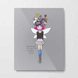 """""""Sometimes things just get on top of me"""" fairy Metal Print"""