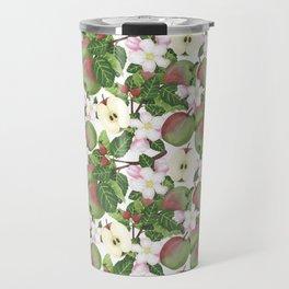 Watercolour botanical Apples Travel Mug