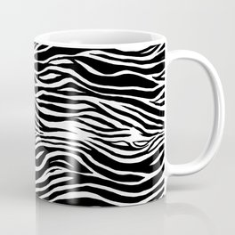 Black and White Zebra Stripes Pattern Coffee Mug