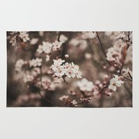 cherry blossom Area & Throw Rugs featuring Cherry Blossom by Evan Dalen