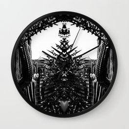 Cacti Garden Majorelle Marrakech Black and White Wall Clock