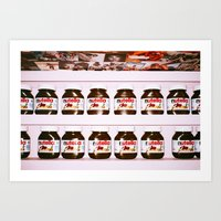 nutella Art Prints featuring Nutella by neil aline