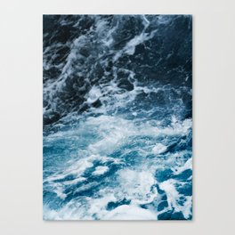 ocean, sea, blue print, blue art, photography, Canvas Print