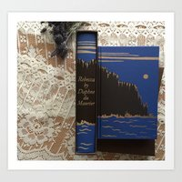 Daphne du Maurier Folio Society Editions posed with Lavendar and Lace Background Art Print