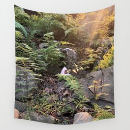 Pennsylvania Fae home in the Woods Wall Tapestry