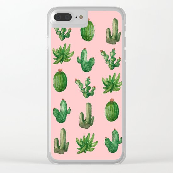 NEW Cactus PinK!! Clear iPhone Case