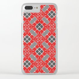 Rodimich - Antlers - Slavic Symbol #4 Clear iPhone Case