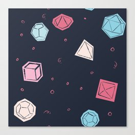 Dice rolling Canvas Print