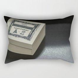Alphabetical Rubber Stamp Rectangular Pillow