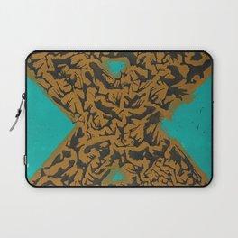 16 x 20 yellow-teal shape Laptop Sleeve