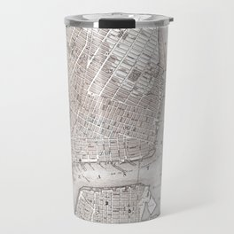 Vintage New York City Map Travel Mug