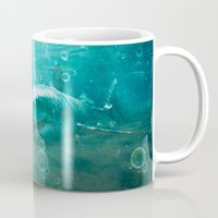 kpop Mugs featuring Blue by SensualPatterns