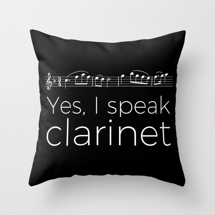 Speak clarinet? Throw Pillow