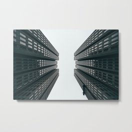 Skyscrapers - Modern City Art Print Metal Print