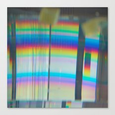 Abstract with rainbow Canvas Print