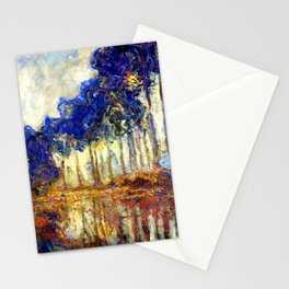 Monet : Poplars on the Banks of the River Epte, 1891 Stationery Cards