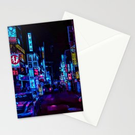 Blue and Purple nights Stationery Cards