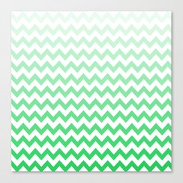 Green Chevron Pattern! Canvas Print
