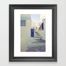 Santorini Door III Framed Art Print