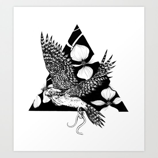 Falcon Spirit Animal Art Print