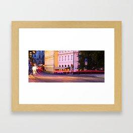 Prague: Traffic Framed Art Print