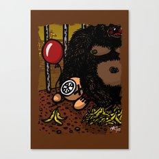 La cage du gorille Canvas Print