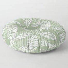 Palm Fronds . Sage Floor Pillow