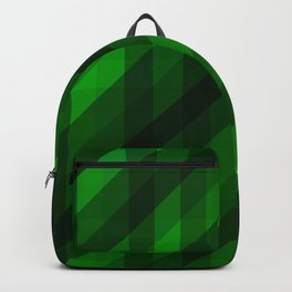Weaving Green Diamonds Pattern Backpack