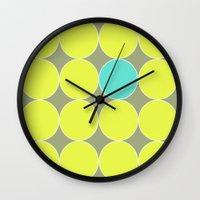 dot Wall Clocks featuring dot. by Bethany Mallick