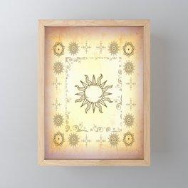 Golden Sun Framed Mini Art Print