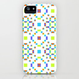Geometric Pattern Vibes in Green iPhone Case