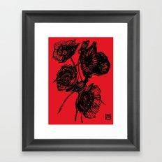 Poppies In Bloom - Red  Framed Art Print