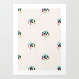 Sabertooth-Unicorn-Diamond-Skull Wallpaper Art Print