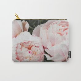 Flower Photography | Peonies Cluster | Blush Pink Floral | Peony Carry-All Pouch