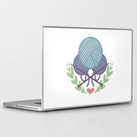 knitting Laptop & iPad Skins featuring Knitting by boots