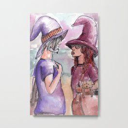 witch friends Metal Print