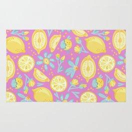 Lemon Pattern Pink Rug