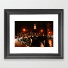 Amsterdam At Night Framed Art Print