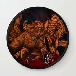 .:Kurama:. The Nine Tailed Fox Wall Clock