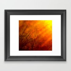 The burning world Framed Art Print