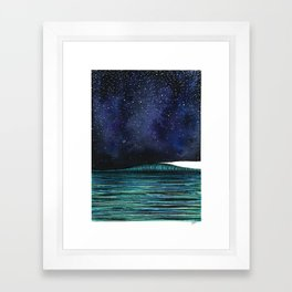 One Wave Framed Art Print
