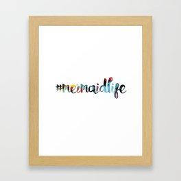 #mermaidlife in cotton candy Framed Art Print