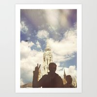 budapest Art Prints featuring Budapest by BriAnneWills