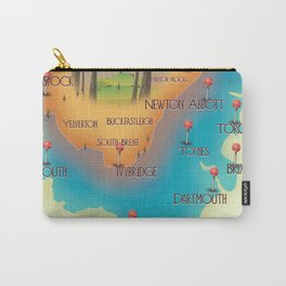 Dartmoor National Park map Carry-All Pouch