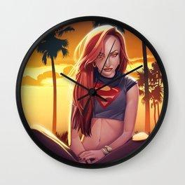 I'm a Supergirl! Wall Clock