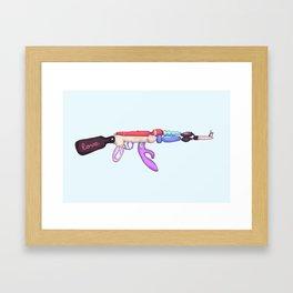 Love Gun Framed Art Print