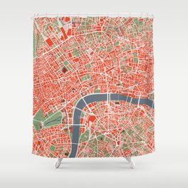 London city map classic Shower Curtain
