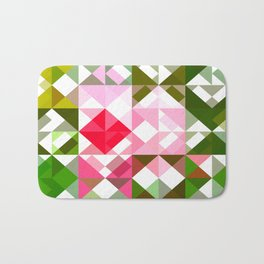 Pink Roses in Anzures 4 Abstract Triangles 1 Bath Mat