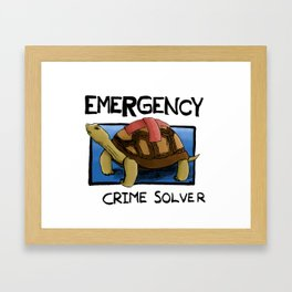 Clyde the Emergency Crime Solver! Framed Art Print