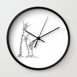 Thorny Meteor Stalks (part of the Strange Plants series) Wall Clock